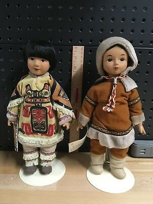 Tlingit Indian Dolls, by Sandy Dolls, Rare, Collectible,