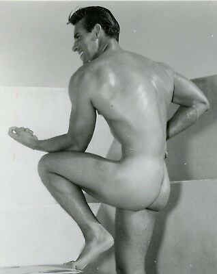 Vintage Athletic Model Guild Smooth Muscular Nude Young Man 4x5 Photo Gay 16135