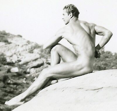 Vintage Athletic Model Guild Smooth Muscular Nude Young Man 4x5 Photo Gay 16133