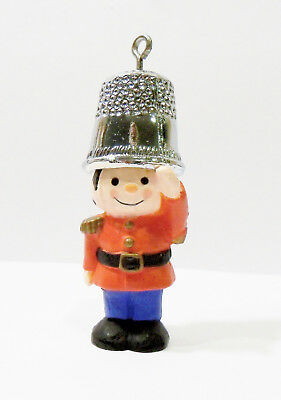 Hallmark A Christmas Salute Tree-Trimmer Soldier with Thimble Hat 1979 Ornament
