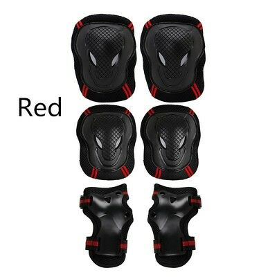 6pcs Skating Protective Gear Sets Elbow Knee Pads Bike Skateboard Adult Kid #AM8