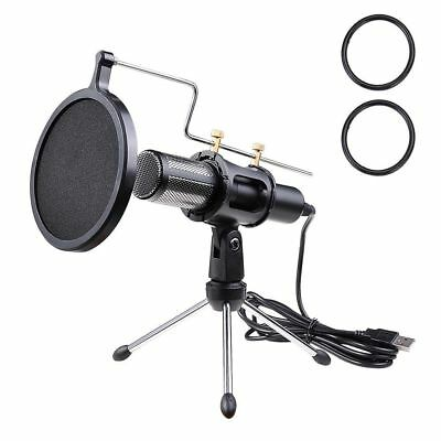 Condenser USB Microphone Tripod Stand for Game Chat Studio Recording Computer
