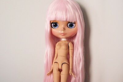 """12"""" Neo Blythe Doll with Outfit - Joint Body Tan Skin Light Pink Hair"""
