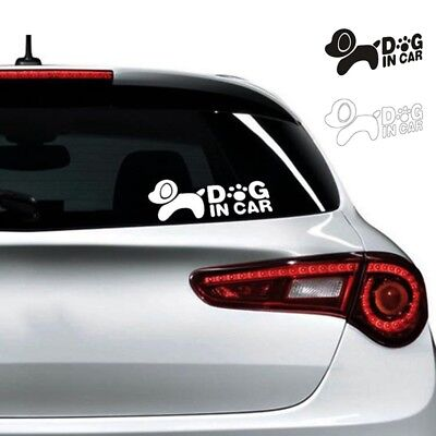 Self Adhesive Car Sticker Cute Small Dog Pattern Safety Warning Stickers 1PC