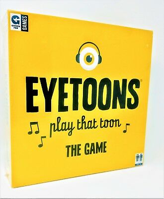 Eyetoons Board Game Play That Toon Test Musical Song Knowledge Spinner Cards New