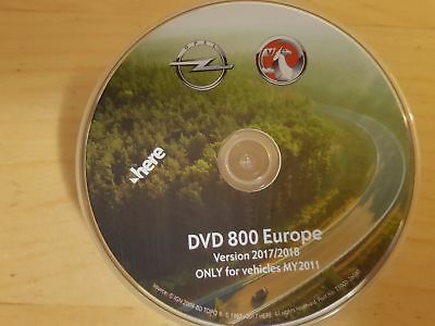 OPEL Map Update DVD Europe 2017-2018 CD500 - DVD800 - MY2011 Aggiornamento Mappe