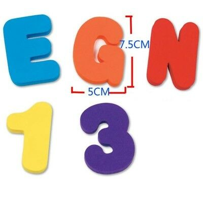 26 Letters 10 Numbers Alphabet  Baby Bath Toy Foam Floating Bathroom Toys #AM8