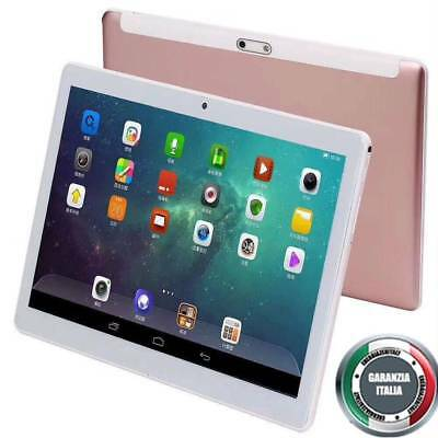 Tablet 10,1 Pollici 3G Octa Core Gps 4Gb Ram 64Gb Rom Android 7 Dual Sim Rosa