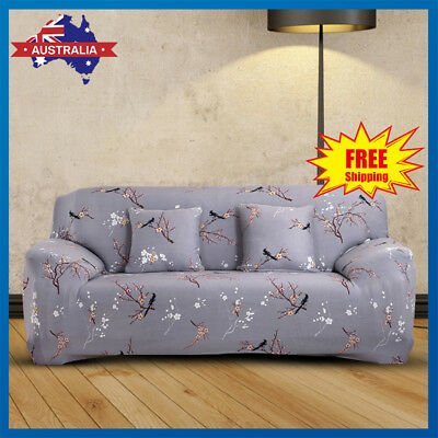 1 2 3 Seater EASY Stretch Floral Couch Sofa Lounge Covers Recliner Chair Cover