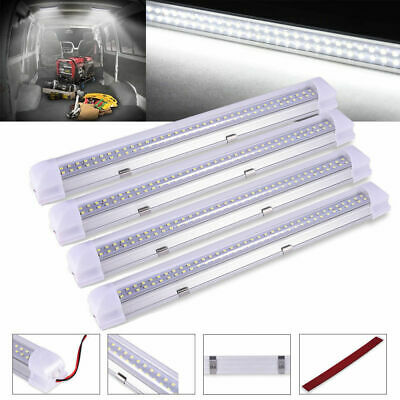 4X12V 5630 Led Strip Lights Bars for Car Camping Boat Caravan Cool White