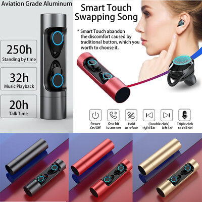 TWS Touch Wireless Bluetooth V5.0 Stereo Headset HiFi Sport Earbuds Headphones