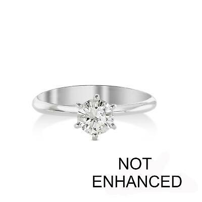 Diamond Engagement Ring .75 Carat Round Cut D/vs2 14K White Gold Solitaire