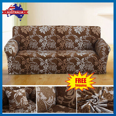 1 2 3 Seater Floral Stretch Sofa Cover Couch Lounge Recliner Slipcover Protector