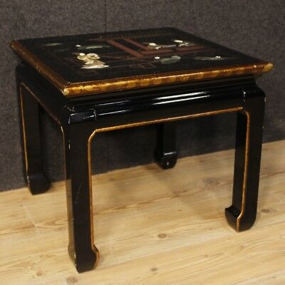 Coffee table furniture living room antique style chinoiserie wood lacquered 900