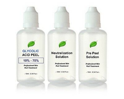 Glycolic Acid AHA Skin Peel - Acne Treatment - 30ml Kit BUY 2 GET 3