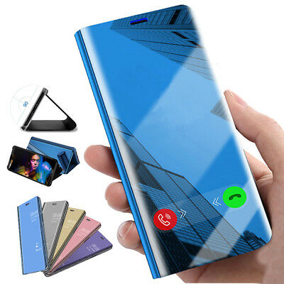 Clear View Smart Mirror Flip Leather Shockproof Case for Xiaomi Redmi 6 Pro Mi 8