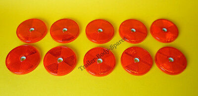 FREE UK POST 10 x 80mm XL Red Hi-Intensity Reflectors for gateposts/trailers