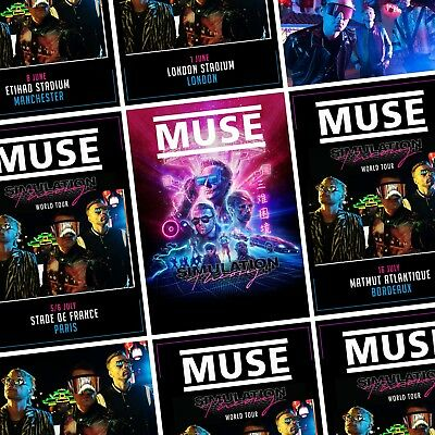 MUSE Simulation Theory 2019 World Tour PHOTO Print POSTER Band US Canada UK Art