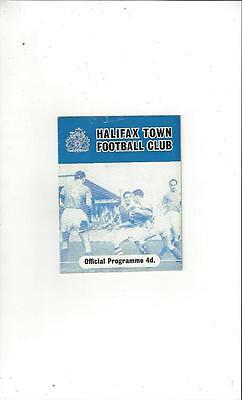 Halifax Town v Southend United 1960/61 Football Programme