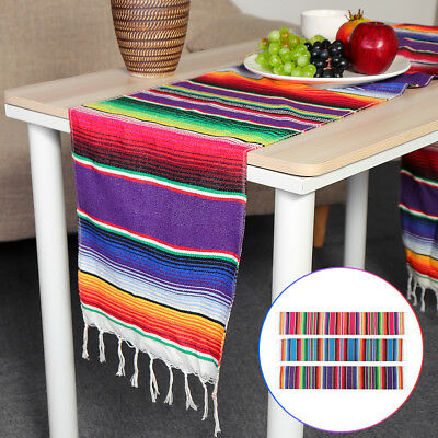 AU Shawl Mexican Table Runner Blanket Rug Serape Cloth Costume Party Decorations