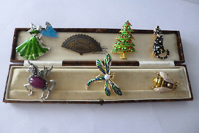 Vintage Jewellery Lovely Mixed Job Lot Of Brooches Pins Various Eras