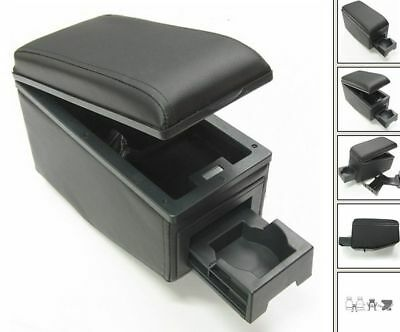 Armrest Centre Console Black Eco Leather Arm Rest Fit Opel Vectra Astra / Tigra