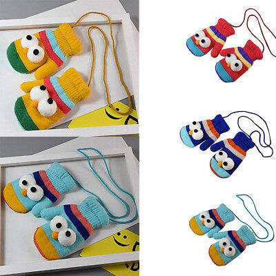 Novelty Toddler Kids Baby Girls Boys Lovely Thicken Cartoon Winter Warm Gloves