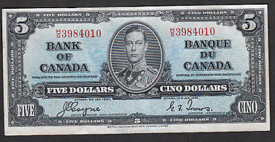 1937 Bank of Canada $5 Note BC-23c