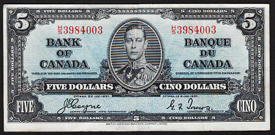 """1937 """"Bank of Canada"""" $5 Note BC-23c"""