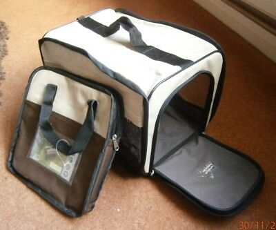 Easy up pet transporter portable cat - dog - rabbit animal carrier  (B4)