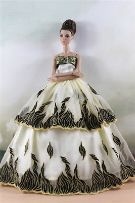 Fashion Party Dress/Wedding Clothes/Gown For 11 in. Doll d01