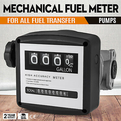 1 Mechanical Fuel Meter for All  Fuel Transfer Pumps FM-120-2 Digit Accuracy