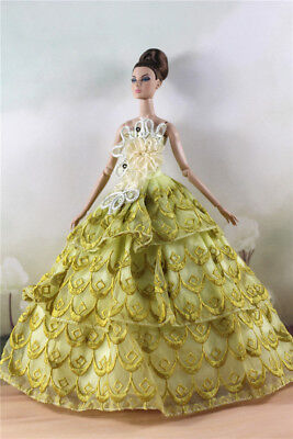 Fashion Party Dress/Wedding Clothes/Gown For 11 in. Doll d12