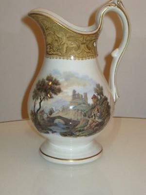 STUNNING ANTIQUE 19th CENTURY PORCELAIN EWER