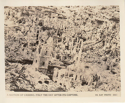 Original WWII AAF Aerial Photo BOMBED RUINS of CASSINO Near Monte 1944 ITALY 15
