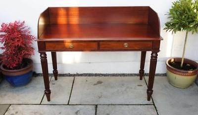 Victorian Mahogany, galleried, 2 drawer wash stand/writing table