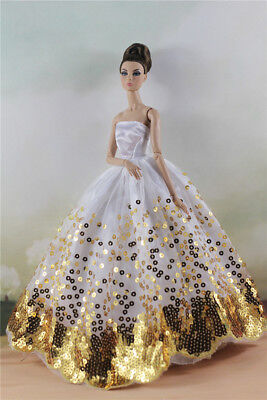 Fashion Party Dress/Wedding Clothes/Gown For 11 in. Doll d27