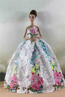 Fashion Party Dress/Wedding Clothes/Gown For Barbie Doll d28