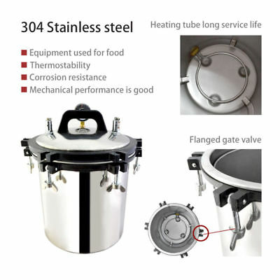Commercial 18L Steam Autoclave Sterilizer Tattoo Dental Medical Sterilization
