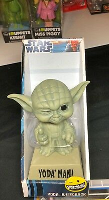 Star Wars Yoda' Man Bobble Head Funko Wisecracks 2012 Lucasfilms