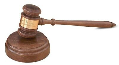 Gavel Director's Set With Block Walnut Judge/lawyer Gift ~~Free Engraving~~