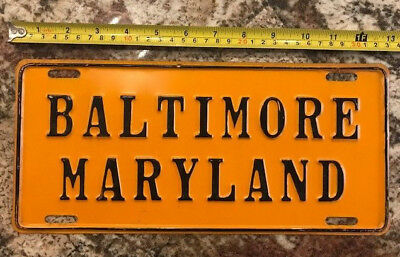 1955 MARYLAND license plate booster   BALTIMORE MARYLAND