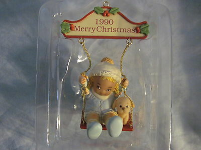 ENESCO 1990 MAY EVERYTHING GO WITH A SWING Ornament Memories of Yesterday