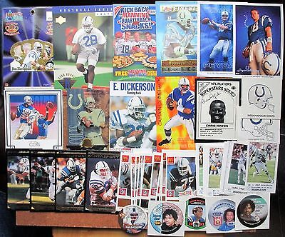 Indianapolis Colts Lot 210+ FACT 1990-96 Panini UK 7-11 Kraft Manning Dickerson