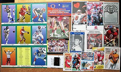 Steve Young 49ers LA Express lot 24 Grid Star Metallic TNT Slide Fleer Photos