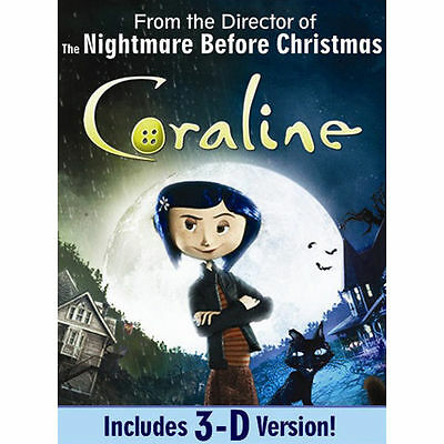 Coraline (Single-Disc Edition w/ 3D) by Dakota Fanning, Teri Hatcher, John Hodg