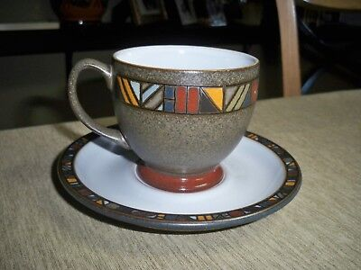 Denby Marrakesh 8 OZ Tea Cup and Saucer Excellent Condition