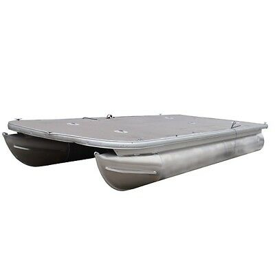 Pontoon Boat Deck w/ Logs And Floats | 20 FT x 24 Inch Tubes 1074456