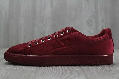 quality design 87f16 d7ac9 35 New Puma Clyde Velour Ice Red Men s Shoes Size 9 11 366549 04