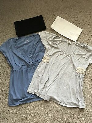Maternity Shirts & Belly Bands, Lot of 4 Items, Motherhood Maternity & Old Navy